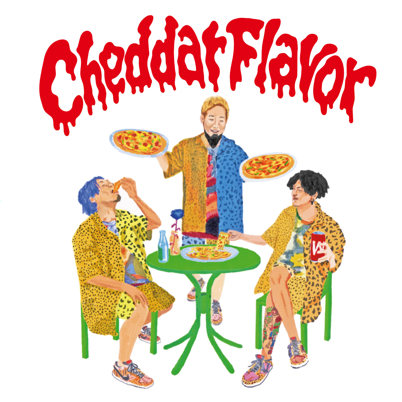 WANIMA 2nd MINI ALBUM「Cheddar Flavor」ジャケット画像